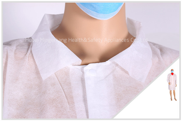 Nonwoven Lab Coat with Shirt Collar