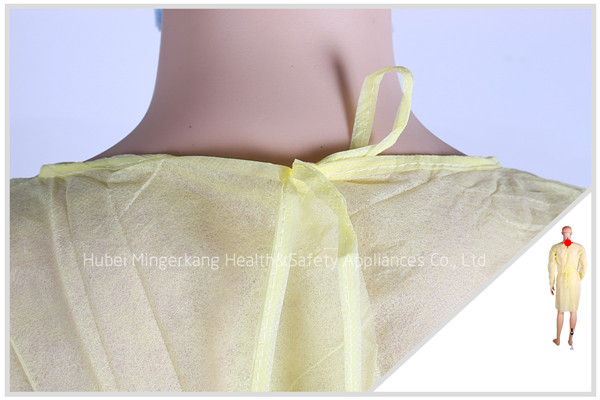 Nonwoven Isolation Gown with Knitting Cuff